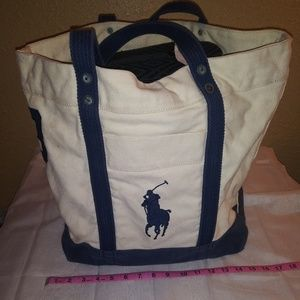 Large POLO canvas tote